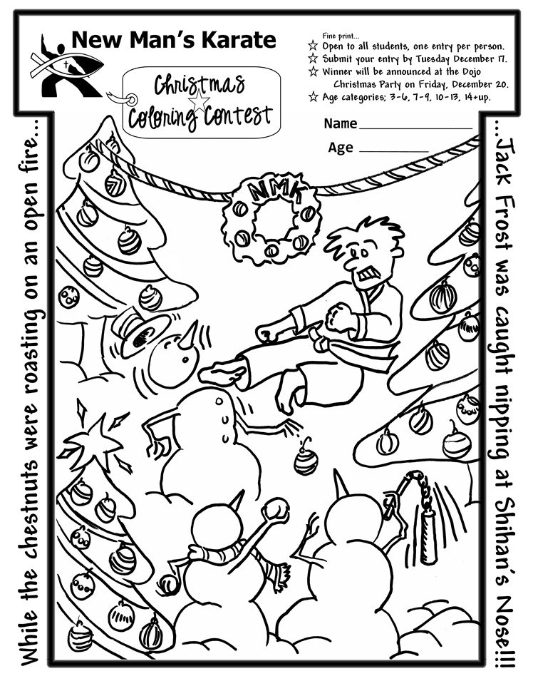 Christmas Coloring Contest Coloring Pages Coloring Contest Pages